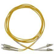 Cdm Cordão Óptico Duplex Multimodo Sc Lc Mm 50/125 Amarelo