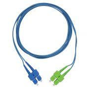 CDS - Cordão Óptico Duplex SM SC-PC/SC-APC (9/125) Azul - 2,5m
