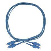 Cds Cordão Óptico Duplex Sm Monomodo Sc-pc Sc Pc 9/125 Azul