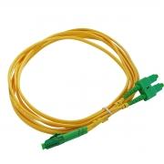 CDS - Cordão Óptico Duplex SM SC-APC/LC-APC (9/125) - 2,5m