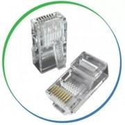 Conector Cat5e RJ45 Plug Macho 8 Vias  - PMC
