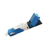 Conector de campo reutilizável com trava tipo E SC/UPC Azul