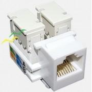 Conector Keystone RJ45 Cat5e Branco