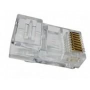 Conector Macho Plug RJ45 Cat5e 8X8 Ovalado - Pier