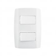 Conjunto Placa Espelho 4x2 com 2 Interruptores Simples 10A 250V Slim Ilumi 8018