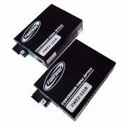 Conversor de Fibra Optica MM e SM 10/100/1000 1 FO SC p/ RJ45 FWE2-121 AeB