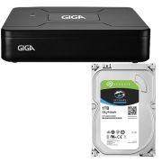 DVR 4 CANAIS + HD 1TB - OPEN HD LITE 720P COM SAÍDA HDMI