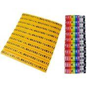 Identificador de cabos - Anilhas Pacote com 1530 peças