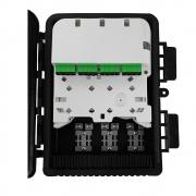 CTO - Caixa de Terminação Óptica 5 Entradas 16 Saídas Anatel (Completa C/ Splitter 1x16 e Adaptadores SC APC VERDE)