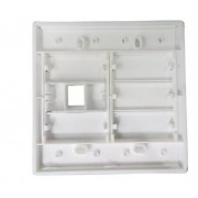 Espelho 4x4 01 Saída RJ Modulo Removível Branco - AK