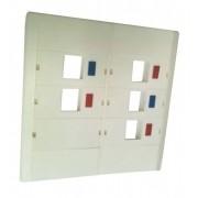 Espelho 4x4 05 Saídas RJ Modulo Removível Branco - AK