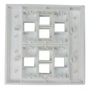 Espelho 4x4 08 Saídas RJ Modulo Removível Branco - AK