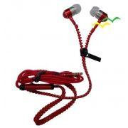 Fone de Ouvido com Microfonecontrole para Atender Chamadas - VERMELHO - EXBOM