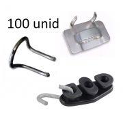 Kit 100 Fecho Fusimec P/ Fita 3/4 + 100 Agfe + 100 Esticador
