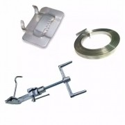 Kit 1 Máquina Fusimec + 1 Rolo 25m Fita 3/4 + 100 Fechos