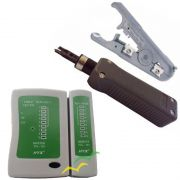 kIT 60 Alicate  Punch down, crimpagem e decapador universal + testador de cabo de rede
