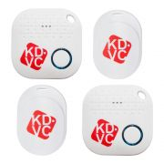 Kit com 4 Localizador Bluetooth KDVC (2 Motion + 2 Mini) Para Celular Carteira Chaveiro ou PET