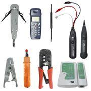 Kit com 8 Ferramentas para Rede e Telefonia Badisco Píer Telecom