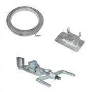 Kit Ferramenta - Máquina Fusimec + Rolo 25m Fita 3/4 + 50 Fechos 3/4