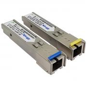Kit Par Módulo Mini Gbic 1.25G WDM - 01FO SC/UPC SM 20Km (Lado A e Lado B)