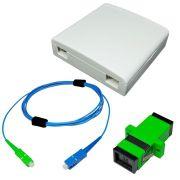 KIT Provedor de Internet Roseta + Cordão Óptico Simplex SC/APC e SC/UPC + Adaptador SC-APC