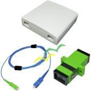 KIT Provedor - Roseta + Cordão + Adaptador SC-APC - Pacote 10 Kit's
