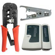 Kit Testador De Cabos + Punch Down + Decapador Universal