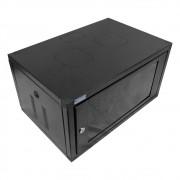 Mini Rack de parede 05U X 370 preto texturizado - MNSTD0053