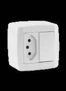 Monobloco Interruptor Simples 10A + Tomada 20A 250V Slim Box 84201 - Ilumi