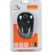 Mouse Sem Fio 2.4GHZ  Preto Usb - MO212 - MULTILASER