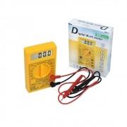 Multímetro Digital DT 830B voltímetro ohmímetro e amperímetro com bateria - Amarelo
