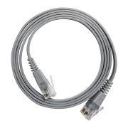 Pacote com 5 unidades Patch Cord tipo Flat Cable RJ45 Gigabit Cat6 1m Cinza