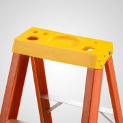 Patamar para Escada Residencial Tipo Tesoura em Plástico Amarelo - SINTESE