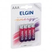 Pilha Recarregável AAA-900 MAh Elgin (Blister C/4)