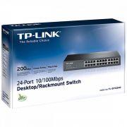 Switch TP-LINK 24P  10/100 TL-SF1024D - Padrão Rack - TP-LINK