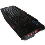 Teclado Gamer com fio - com 3 cores iluminação LED