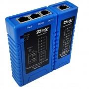 Testador de Cabos com Leds para POE/RJ11/RJ45 2F-NF4511P - 2Flex