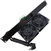"""Unidade de ventilação universal com 2 Ventiladores BI-VOLT 9011 C/ Painel 19"""" - W"""