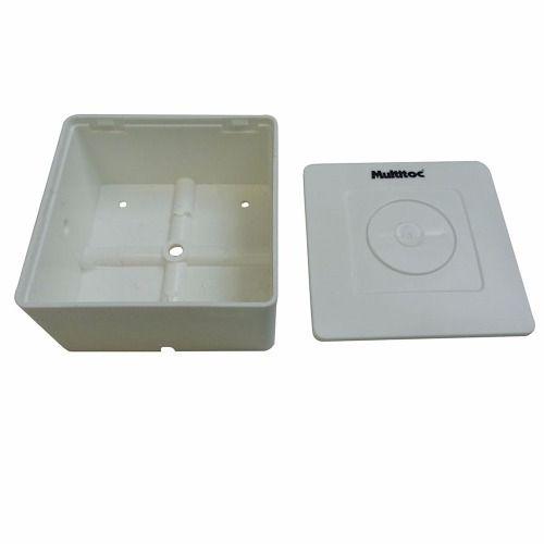 Caixa de sobrepor para CFTV quadrada Branca c/ tampa cega