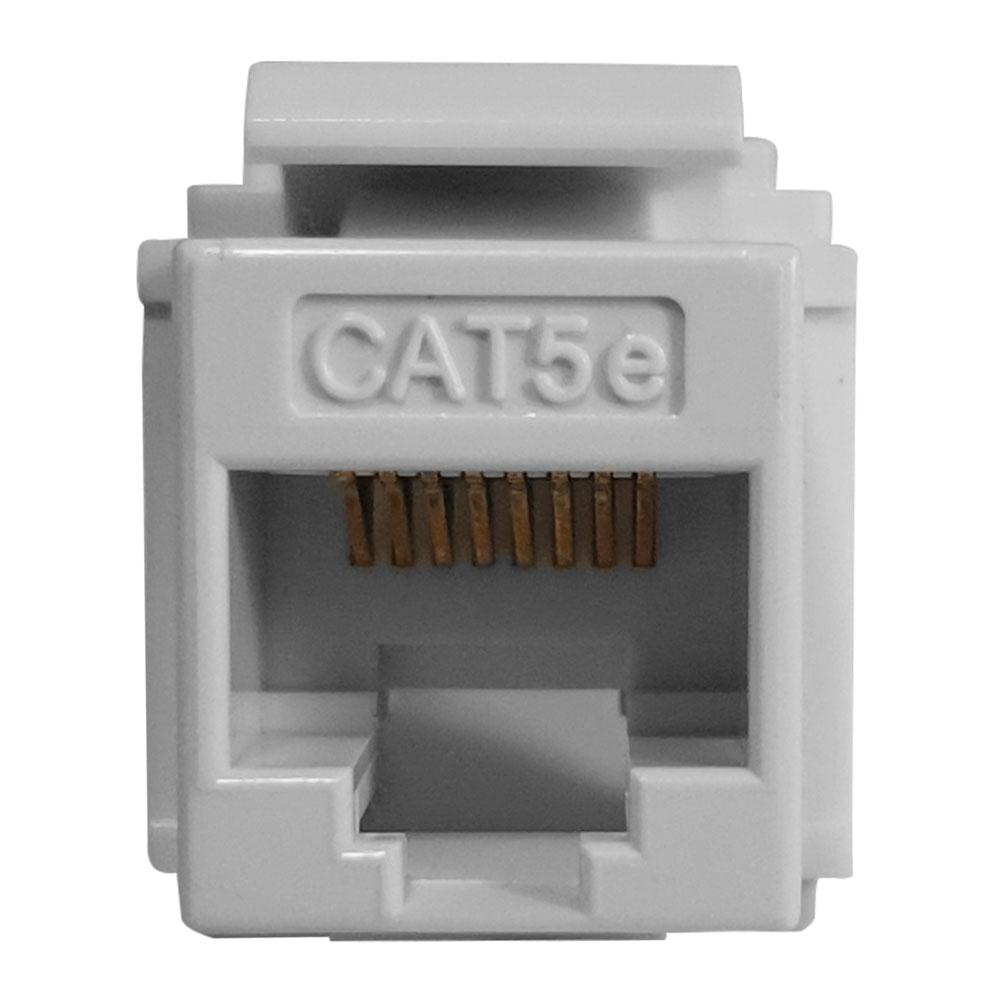 25 Pçs de Conector Fêmea Keystone RJ45 Cat5e Branco Soho Plus - Furukawa