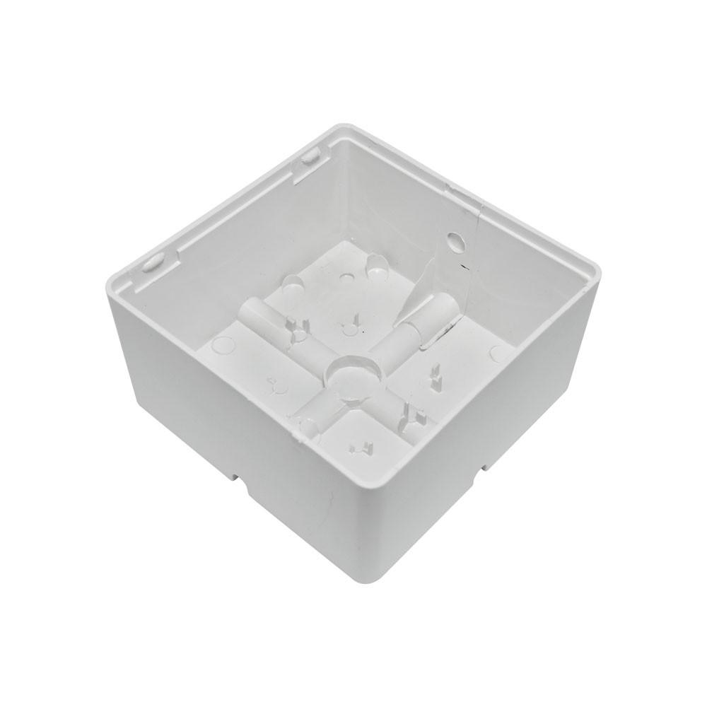 25  Unidades de Caixa de sobrepor para CFTV Quadrada Branca c/ tampa cega