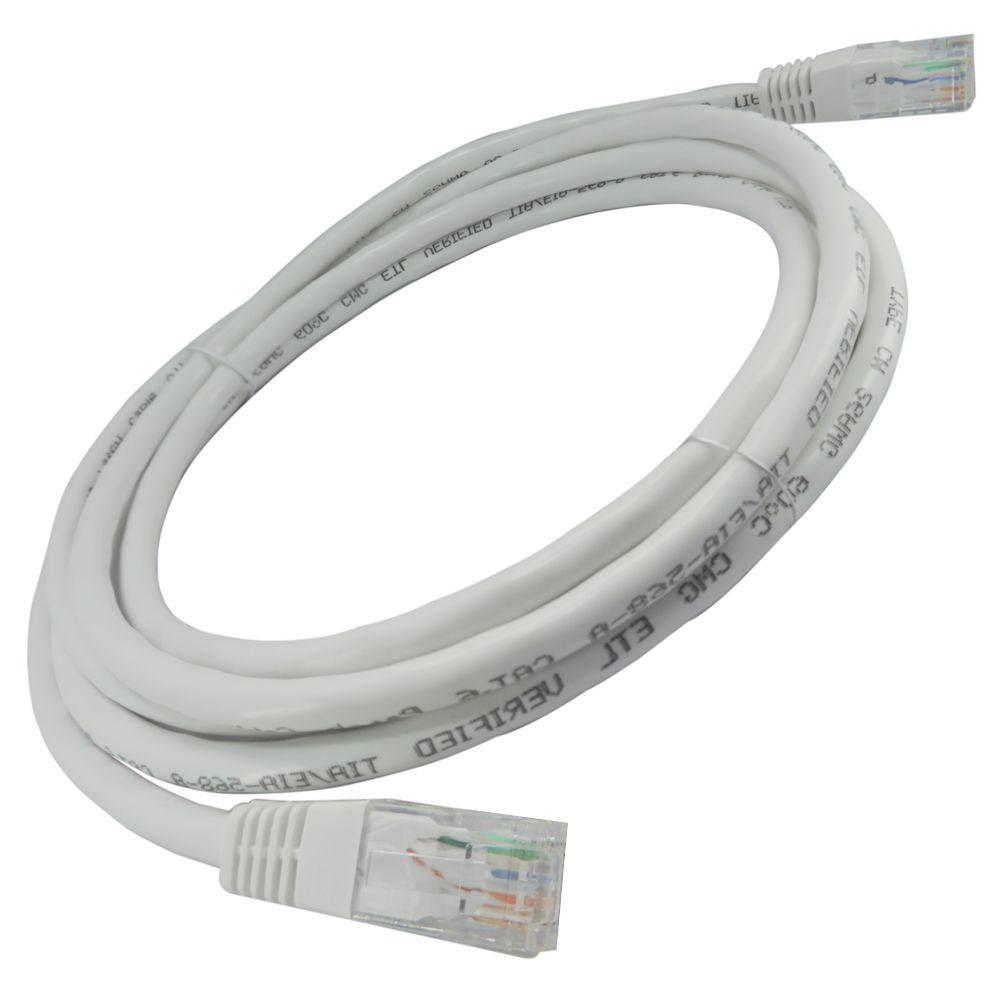 25 Unidades de Patch Cord Flexível Cat 5e 2,5m  - Branco