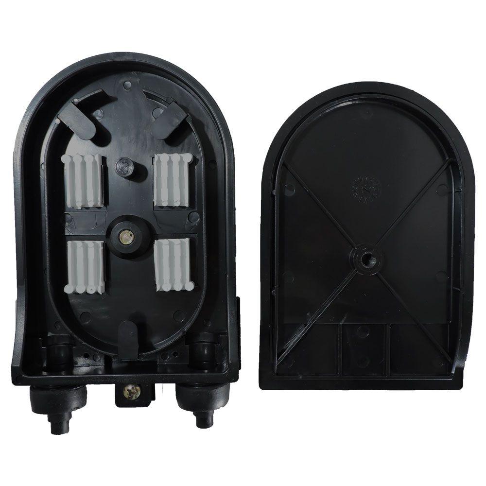 25 unidades de Terminador Óptico 06F Injetado - Preto