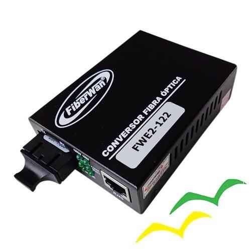 Par Conversor de Fibra Optica MM e SM 10/100/1000 2FO SC 01 RJ45 FWE2-122