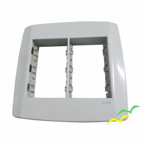 Placa 4x4 6 Posições Com Suporte - Linha Slim - Ilumi
