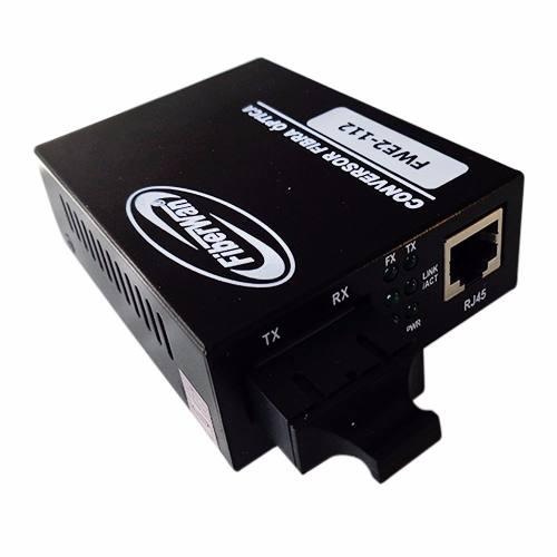 2 Conversores de  Fibra Optica MM SM 10/100 2FO SC P/ RJ45 FWE2112