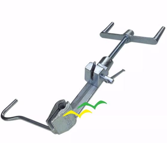 2 Pç Máquina De Cintar Poste Galvanizada P/ Fita Aço Inox Fusimec