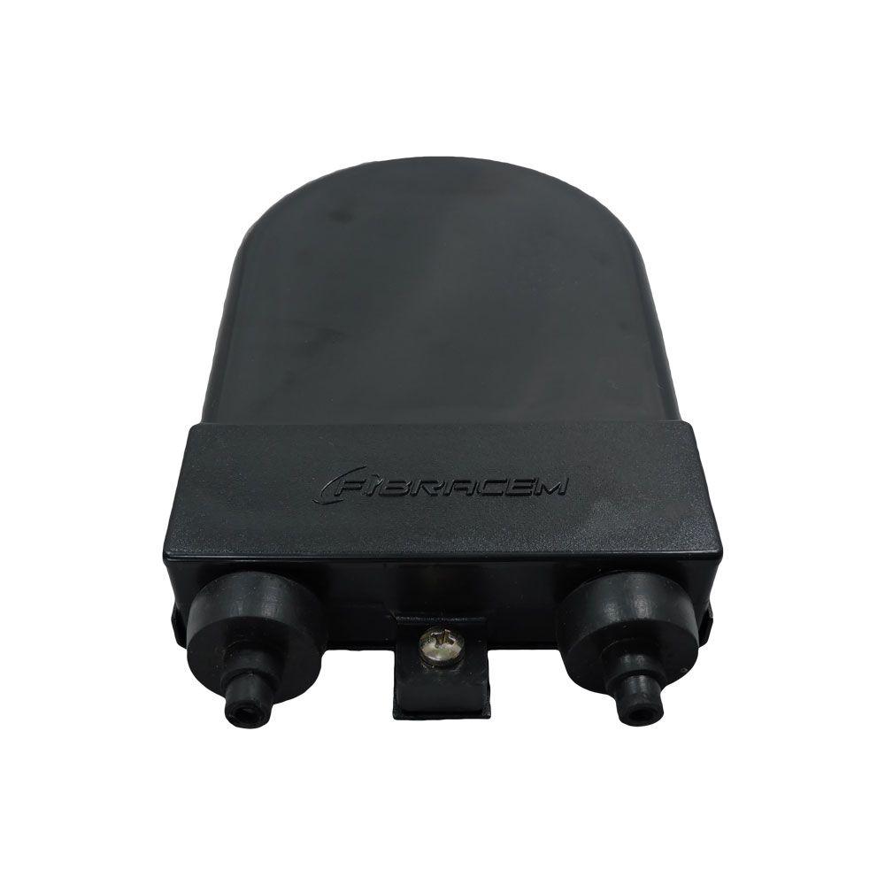 2 unidades de Terminador Óptico 06F Injetado - Preto