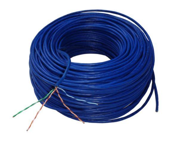 30 metros Cabo de Rede UTP 4P x24 AWG Cat5e CMX Azul - Nexans NEX0005