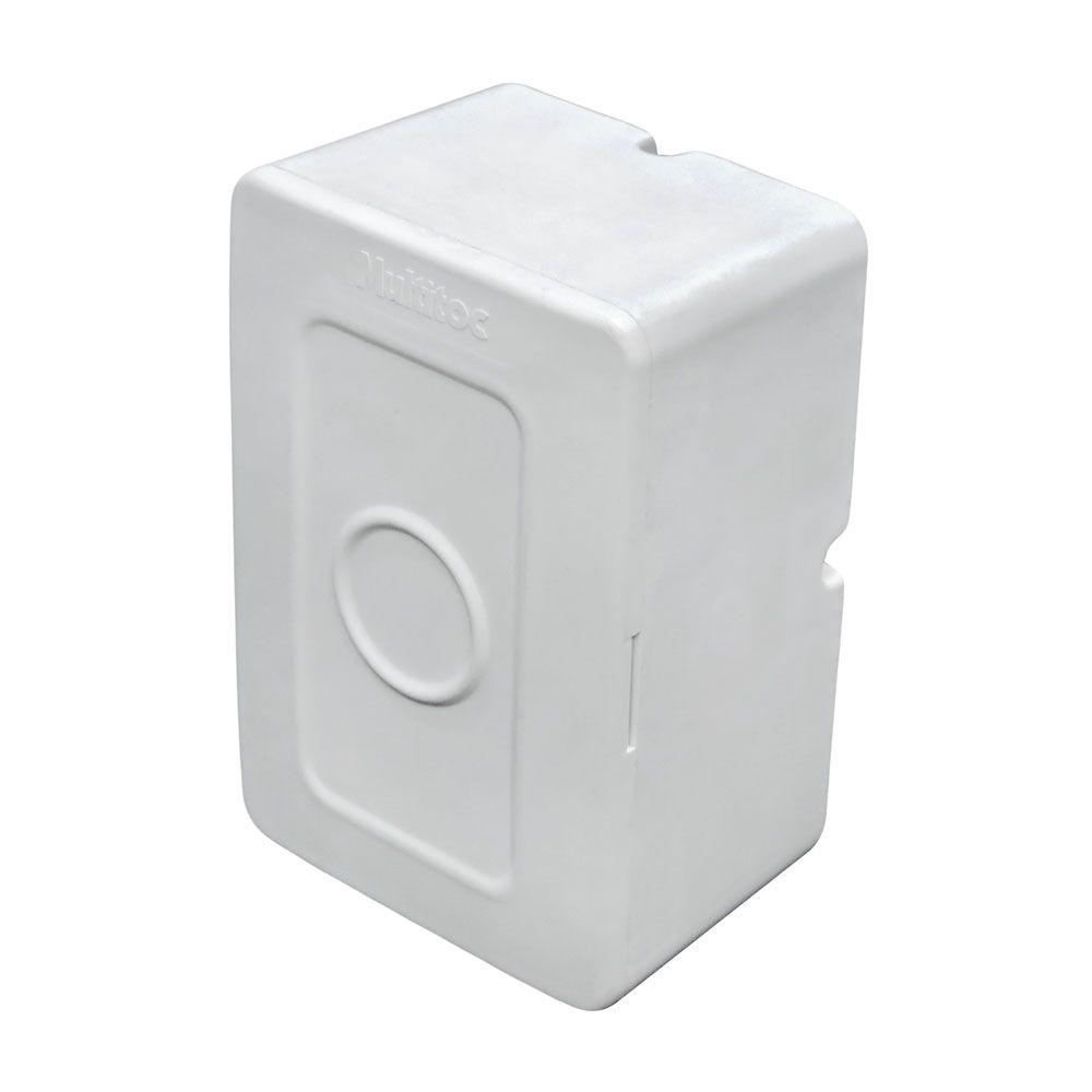 30 Unidades de Caixa de sobrepor P/ CFTV RETANGULAR Branca c/ tampa cega